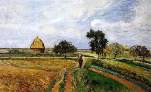 The Old Road to Ennery at Pontoise, 1877 National Gallery of Canada, Ottawa