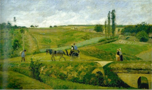 The Hermitage Road at Pontoise, 1874 Musée d'Orsay, Paris   PDR349