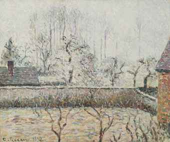 Landscape with Houses and Wall, Eragny, 1892, PDR 968 Christies, Lot 44