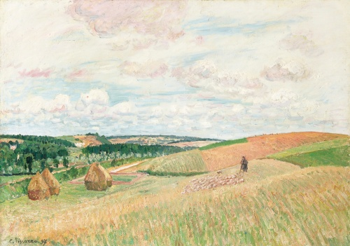 The Hills at Thierceville, Haystacks, 1897, PDR 1189 Sothebys, Lot 42