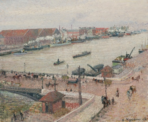 The Seine in Flood, Pont Boieldieu, Rouen, 1896, PDR 1120 Sothebys, Lot 58