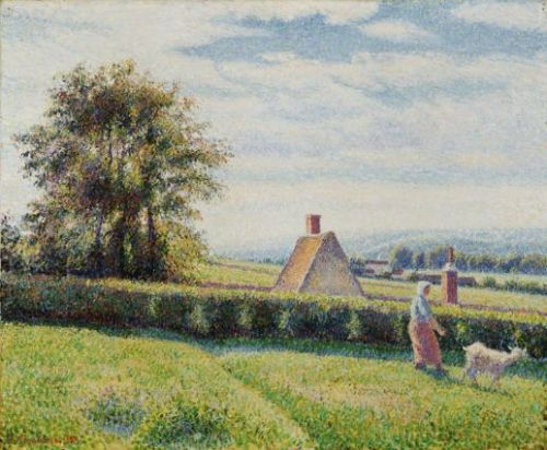 Woman and Goat at Éragny, 1889 PDR 874