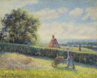 Woman Pushing a Wheelbarrow, 1890 PDR875