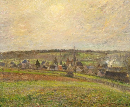 View of the Village of Éragny 1885   PDR 790 Birminghaam (AL) Museum of Art