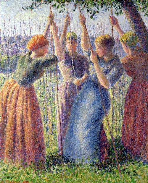 Peasant Women Planting Poles into the Ground 1891    PDR 922 Private collection, London; on loan to Graves Art Gallery, Sheffield, UK