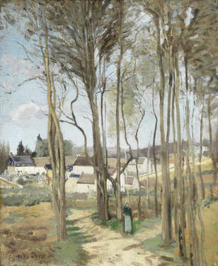 The Village Screened by Trees c. 1869   PDR 134 Private collection