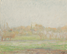 Vue de Bazincourt, Brouillard c. 1894    PDR 1024 Private collection