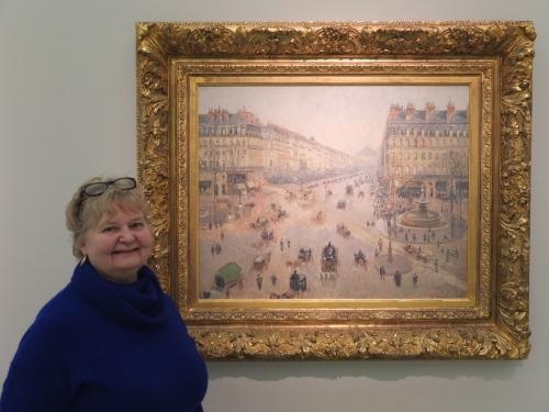 LA PLACE DU THEATRE-FRANCAIS ET L'AVENUE DE L'OPERA 1898   PDR 1202 Musee des Beaux-Arts, Rheims, France Ann Saul, left of painting