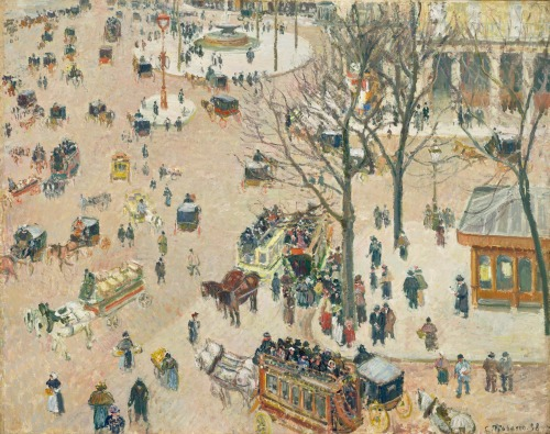 La Place du Théâtre Français 1898   PDR 1208 Los Angeles Count Museum of Art