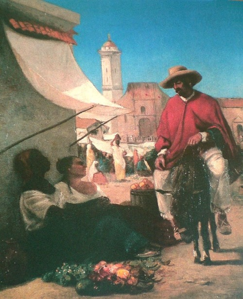 Market Scene on the Plaza Mayor, Caracas 1852-54   PDR 1 Presidential residence, La Casona, Caracas