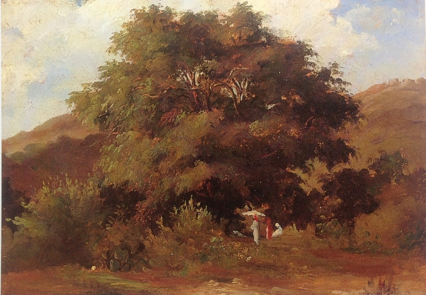 Landscape with Women under a Large Tree c. 1854-55  PDR 7 Private collection