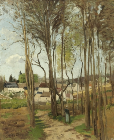 The Village Screened by Trees  c. 1869 Private collection PDR 134