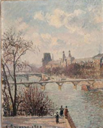 The Louvre, Morning, 1902, PDR 1418