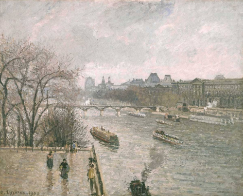 The Louvre, Afternoon, Rainy Weather  1900 National Gallery of Art, Washington, DC PDR 1346