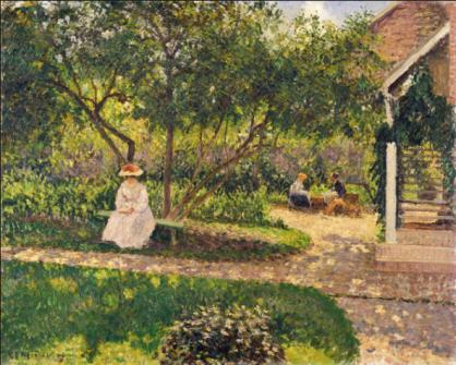 1184 Stairs at corner of garden, Eragny 1897