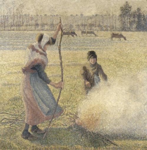 1888 GElee Blanche, Jeune Paysanne Faisant du Feu 1888