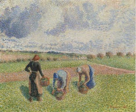 830 Paysannes Ramassant des Herbes, Eragny 1886