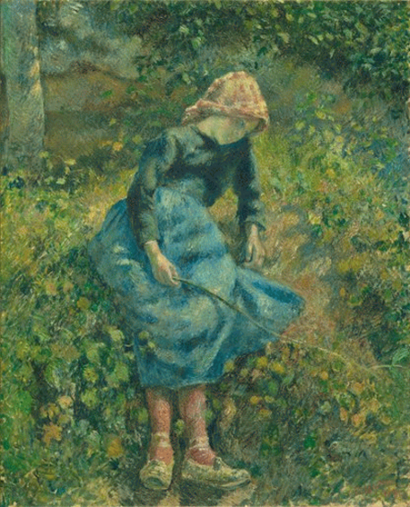 Young Girl with Stick