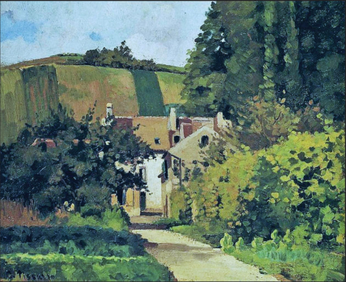 vue of the cote Saint-Denis, Pontoise 1867