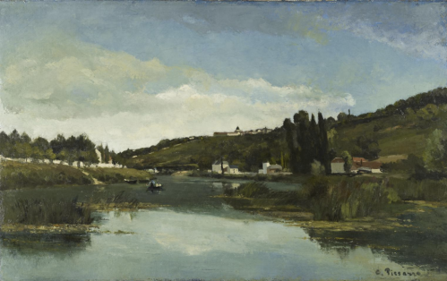 103 Banks of the Marne at Chennevieres 1865