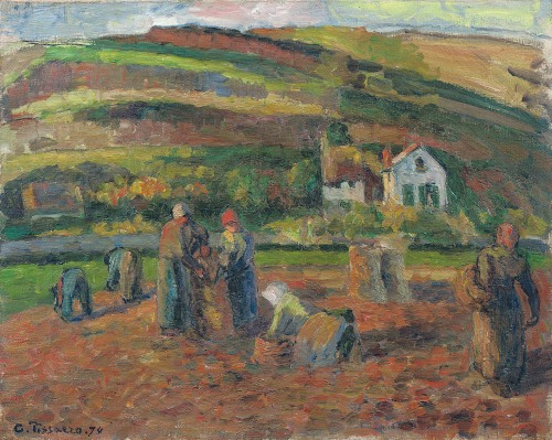 The Harvest of Potatoes, Pontoise, 1874 (oil on canvas)