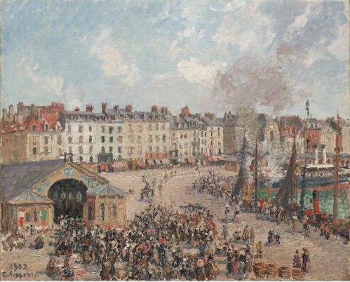 1439 The Fish Market, Dieppe 1902