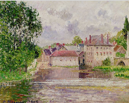 1432 The Bridge and the Printing Plant, Moret 1902