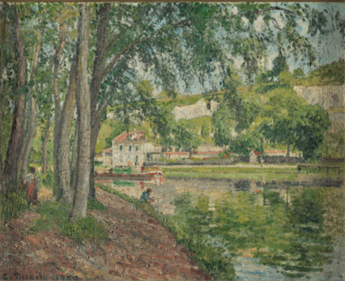 1434 The Loing Canal, Moret 1902